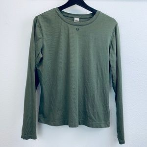 Sundance Olive Green Knit Long Sleeve T Shirt